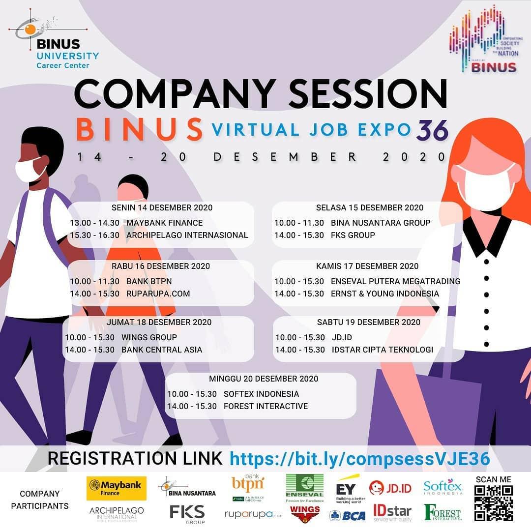 BINUS VIRTUAL JOB EXPO 36 - Company Session